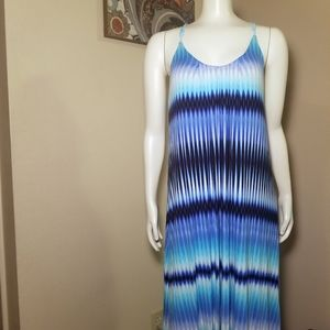 Cynthia Rowley High Low Tie Dye Maxi Dress